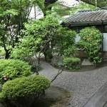 В храме сохранен небольшой садик. Очень небольшой, но красивый