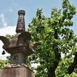 Это, кажется, ступа рядом с центральным холлом храма