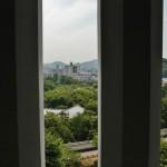 Из окна Западной галереи, которая только сейчас и открыта для посещения