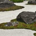 Сад был спланирован в конце XVI века, когда храм обосновался на своем теперешнем постоянном месте. Камни для сада были подарены Тоётоми Хидэёси из тех, что были приготовлены для его собственного замка Фусими-Момояма. В саду, как понятно из названия, 16 камней, сгруппированных по-разному и окруженных белым песком. Вся картина представляет собой Хоккэ Мандалу
