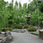 """Это один из пяти садов храма Дзёнан-гу. Конкретно этот называется """"Хару-но яма"""" - """"Весенняя гора"""". Потому что на небольших холмиках здесь рассажены разные виды сливы-умэ, красиво цветущей весной. А сейчас здесь просто зелено и именно тут проводится церемония избавления от грехов Катасиро Нагасу"""