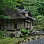 """Чайный домик на территории храма. Один из. Конкретно этот - Ихо-ан, любимый тя-сицу """"звезды"""" начала XVII века Ёсино-таю и ее мужа, богатого купца Хайя Сёэки"""